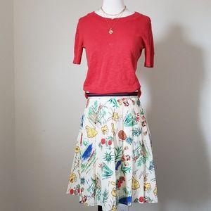 Jcrew Factory NWT fun print skirt